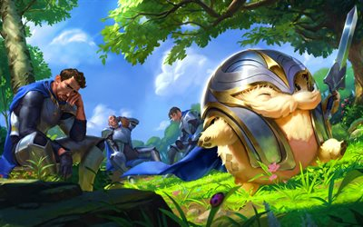 Demacia, warriors, MOBA, League of Legends, artwork, Legends of Runeterra, Demacia League of Legends
