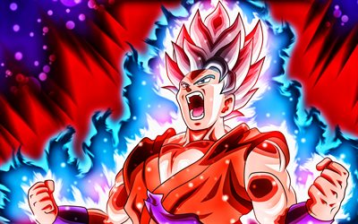 Kaio-ken, 4k, Dragon Ball, Kaioken, Dragon Ball FighterZ, DBZF, Dragon Ball characters, Kaio-ken 4K, Realm King Fist