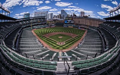 Oriole Park at Camden Yards, MLB, baseball-stadion, Baltimore Orioles, Oriole Park, Baltimore, Maryland, USA, baseball-kentän, Baltimore Orioles-stadion, baseball