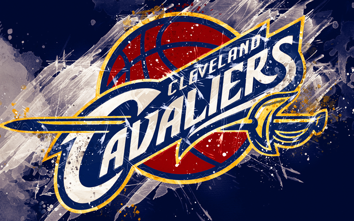 Download Wallpapers Cleveland Cavaliers, 4k, Grunge Art