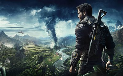 Just Cause 4, 2018, new computer game, action, poster