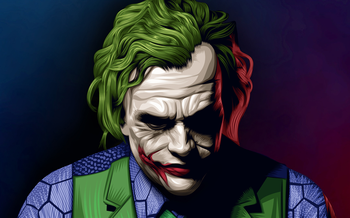 Download Wallpapers Joker 4k Anti Hero Fan Art Heath