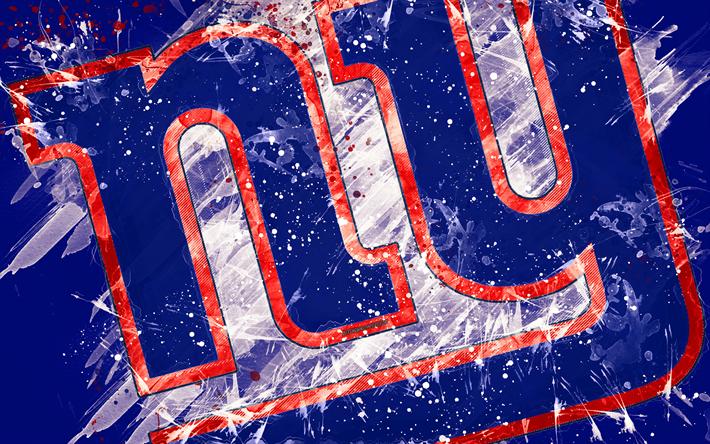 Download Wallpapers New York Giants 4k Logo Grunge Art