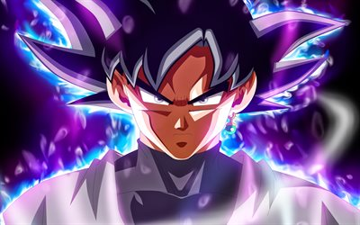 4k, Ultra Instinct Goku, smoke, DBS, Dragon Ball, warrior, Migatte No Gokui, Mastered Ultra Instinct, fire, Super Saiyan God, Dragon Ball Super