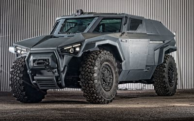 Volvo Scarabee, armored car, military vehicle, exterior, front view, swedish armored cars, Volvo