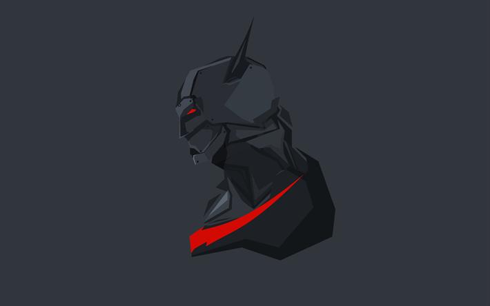 Scarica Sfondi Batman 4k Batman Beyond Supereroi Minimal Beat