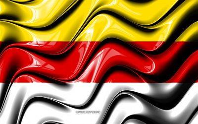Munster Flag, 4k, Cities of Germany, Europe, Flag of Munster, 3D art, Munster, German cities, Munster 3D flag, Germany