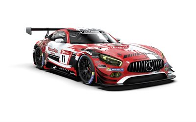 Mercedes-AMG GT3, 2019, racing car, tuning, German supercars, GetSpeed Performance Rooster Rojo J2 Racing, Mercedes