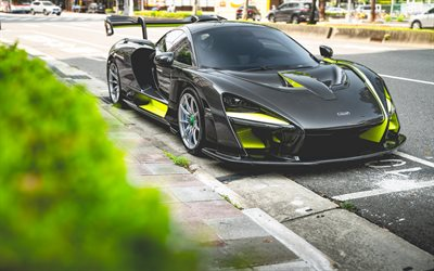 McLaren Senna, 2019, carbon hypercar, front view, car, tuning Senna, British sports cars, McLaren