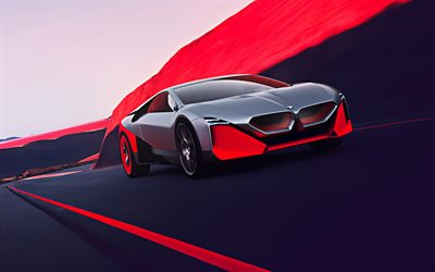 BMW Vision M Next, 2019, front view, exterior, German supercar, BMW