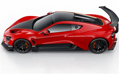 Zenvo TSR-S, 2020, Danish hypercar, side view, exterior, red sports coupe, red TSR-S, sports cars, Zenvo