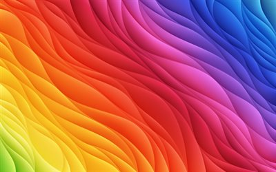 colorful abstract waves, 4k, creative, artwork, colorful wavy background, abstract waves, wavy textures