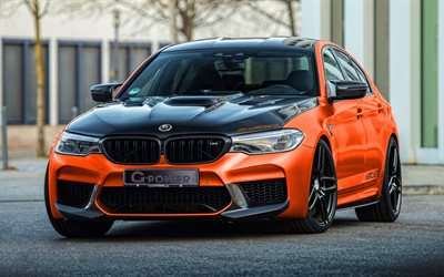 g-power m5 hurricane rs, 4k, supercars, bis 2020 autos, bmw m5, f90, bis 2020 bmw 5-serie, tuning, bmw