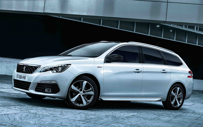 download wallpapers peugeot 308 sw 2018 white wagon french cars peugeot for desktop free. Black Bedroom Furniture Sets. Home Design Ideas