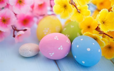 easter eggs, scenery, easter, pasca
