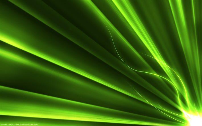 Scarica Sfondi Raggi Verdi Creative Linea Neon Per Desktop Libero