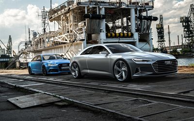 audi c7, 2015, audi rs6, port, audi, marina, ship