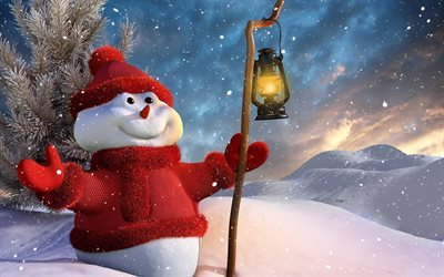 new year, snowman, winter, snow, holiday, holy