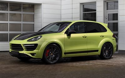 tuning, porsche cayenne, ball wed, green porsche, 2015, vantage