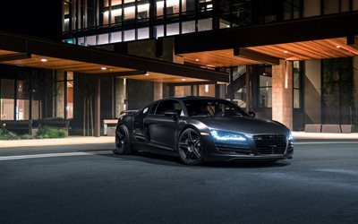black audi, ss customs, audi r8, tuning, coupe