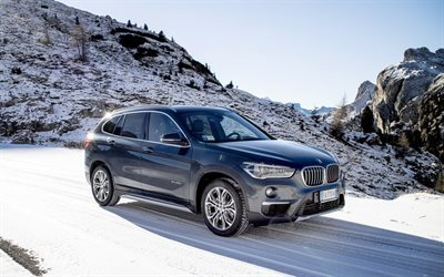 bmw x1, crossover, 2016, winter, bmw