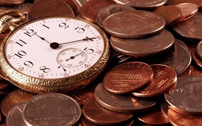 watch, time is money, capital, pocket watch, money, cents, godinniki, centi