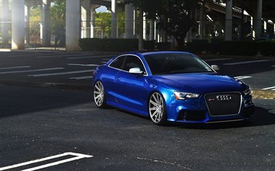 audi rs6, audi rs, sports coupe, tuning, 2015, blue audi