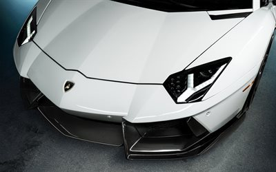 Lamborghini Huracan, ADV1, sports car, white supercar, white  Lamborghini