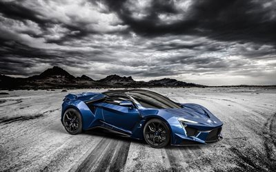 blue supercar, sports coupe, fenyr supersport, 2016