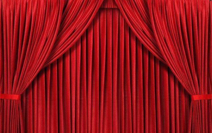 velo escena cortinas rojas cortina - Cortinas Rojas