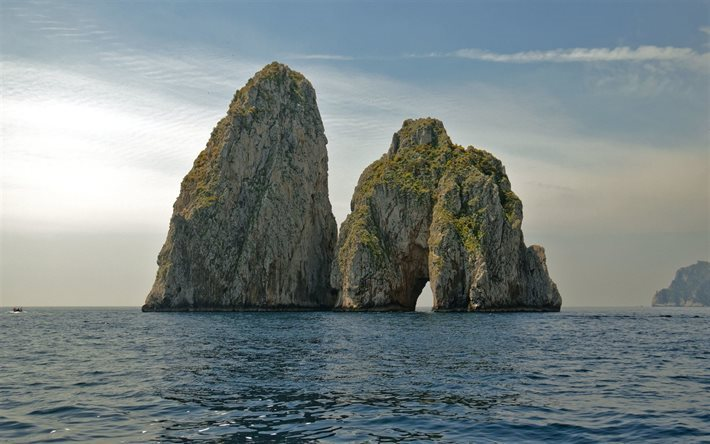 Scarica Sfondi Capri Mare Rocce Onda Napoli Due Rocce Italia