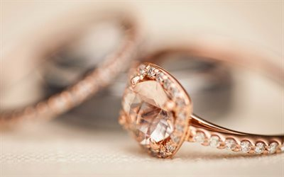 gold rings, decoration, wedding rings, wedding