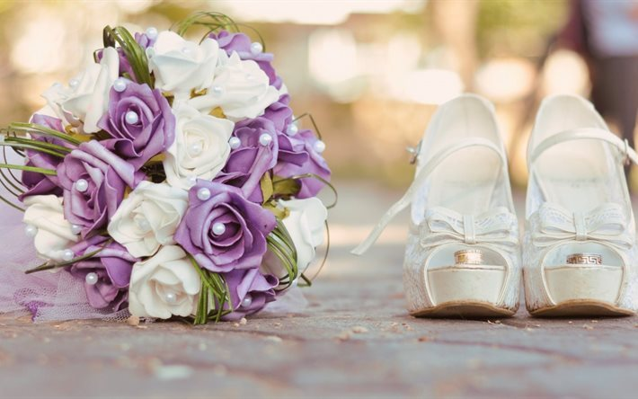 Engagement Ring Shoes Wedding Bouquet Obrocki
