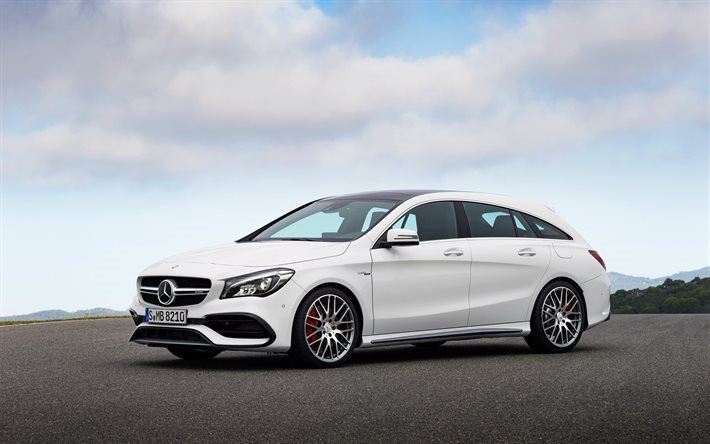 Download Wallpapers Mercedes Cla White Cla Class Mercedes