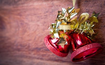 christmas bells, new year, christmas, decoration