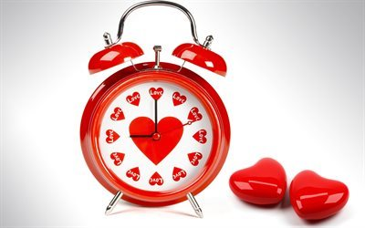 alarm clock, love, concepts