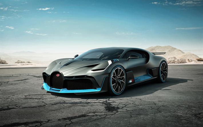 Download wallpapers Bugatti Divo, 2019, 4k, black hypercar ...
