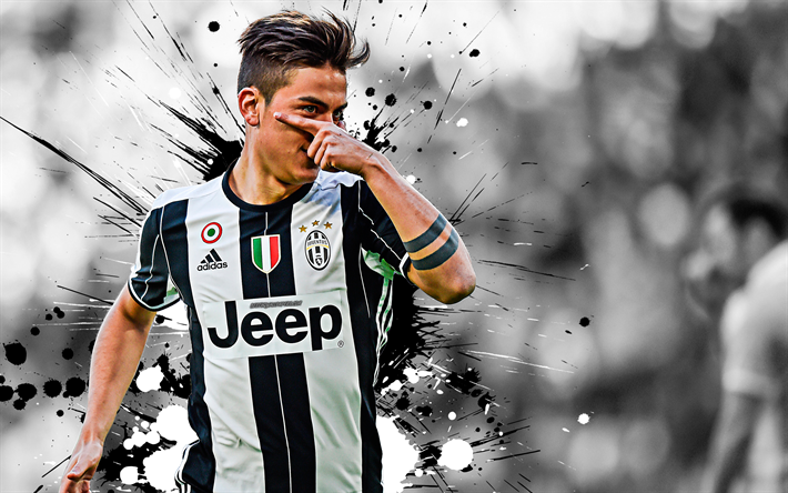 half off 9081a ed607 Download wallpapers Paulo Dybala, 4k, grunge, Juve, white ...