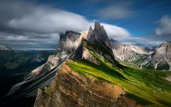 Scarica Sfondi Montagne Rocce Paesaggio Di Montagna Dolomiti