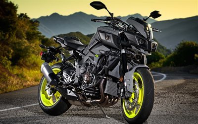 Yamaha FZ-10, 2017, black Yamaha, black motorcycle, new Yamaha