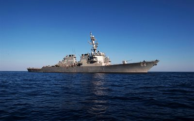 Destroyer, USS Carney, DDG-64, type Arly Burke, US Navy, United States, warships