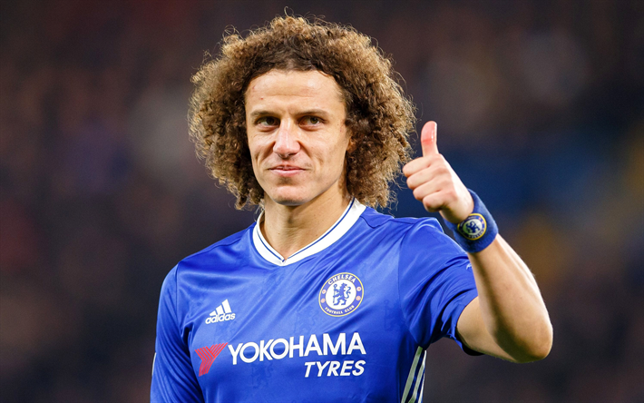 Download Wallpapers David Luiz, Chelsea, Thumbs Up