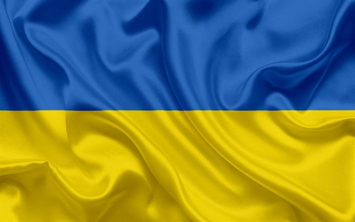 Télécharger fonds d'écran Le drapeau ukrainien, l'Ukraine, l'Europe, le drapeau  ukrainien, symbole national, drapeau de soie pour le bureau libre. Photos  de bureau libre