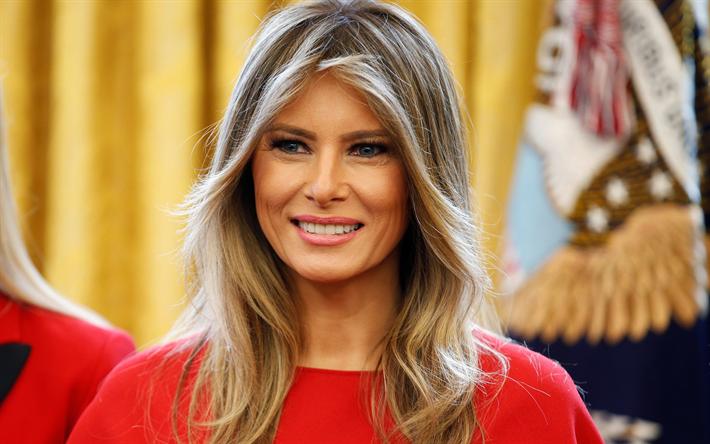Descargar Fondos De Pantalla Melania Trump 4k Retrato La