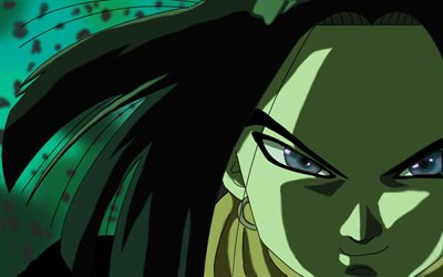 Android 17, portrait, manga, DBS characters, Dragon Ball, artwork, DBS, Dragon Ball Super, Android 17 DBS