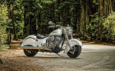 2020, Indian Chief Vintage, lyx vit mc, nya vita Chief Vintage, amerikanska motorcyklar, Indian Motorcykel