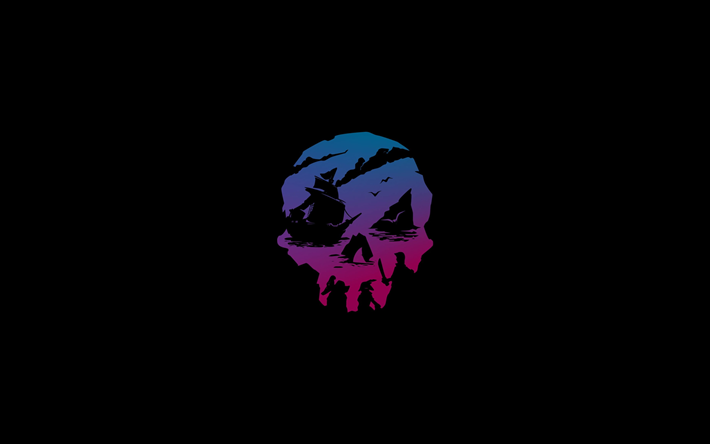 Download Wallpapers Sea Of Thieves Logo 4k Minimal 2019 Games Sea Of Thieves For Desktop Free Pictures For Desktop Free