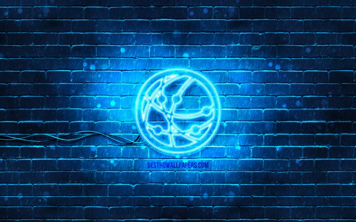 Download Wallpapers Network Neon Icon 4k Blue Background Neon Symbols Network Creative Neon Icons Network Sign Computer Signs Network Icon Computer Icons For Desktop Free Pictures For Desktop Free