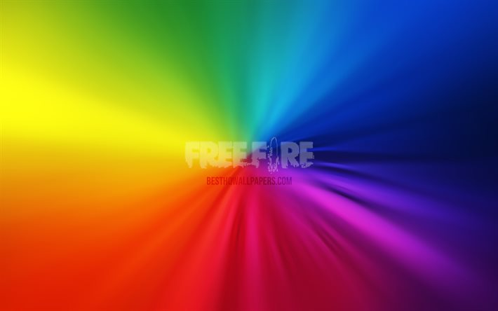 Download Wallpapers Garena Free Fire Logo 4k Vortex 2020 Games Rainbow Backgrounds Free Fire Logo Creative Artwork Garena Free Fire For Desktop Free Pictures For Desktop Free