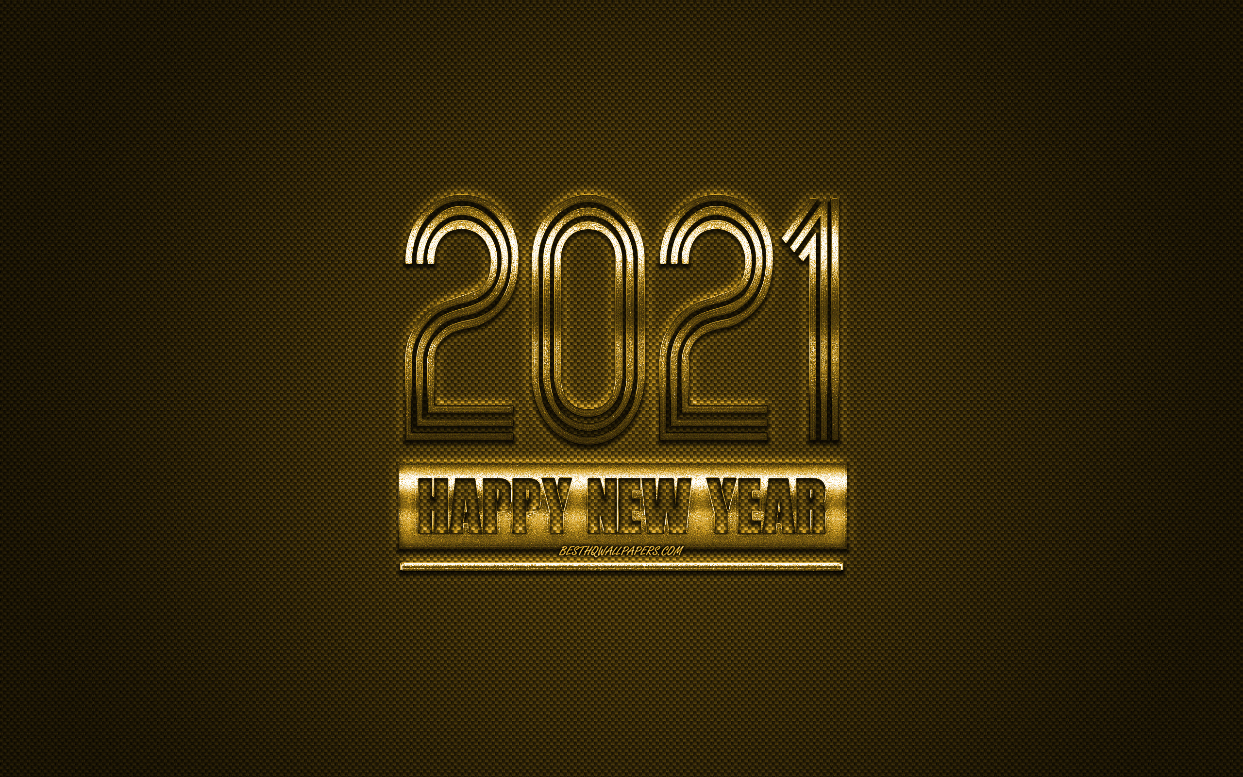 2021 New Year, 2021 Gold background, 2021 concepts, Happy New Year 2021, gold carbon texture, gold background